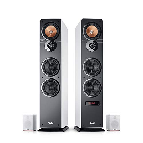 Teufel Ultima 40 Aktiv Surround 4.0-Set Weiß Heimkino Lautsprecher 5.1 Soundanlage Kino Raumklang Surround Subwoofer Movie High-End HiFi Speaker