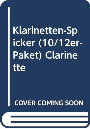 Klarinetten-Spicker (10/12er-Paket): Die praktische Grifftabelle für Klarinette mit deutschem System. Klarinette. Paket.