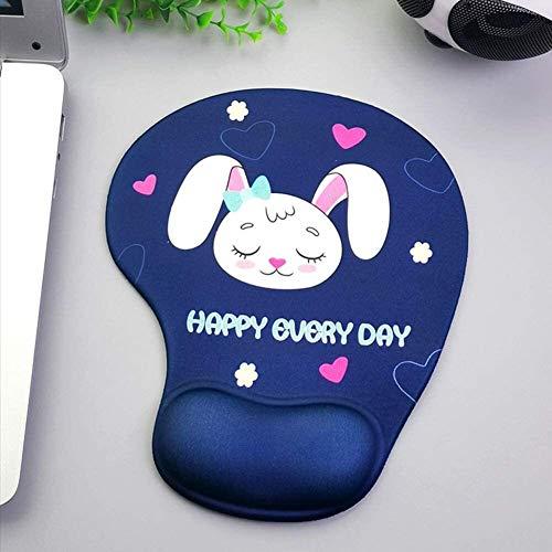 Gaming Alfombrilla de Ratón Grande 2 unids Lindo Mouse Pad Mat Ergonomic Mousepad con Soporte de Descanso de la muñeca for Office Home Laptop Computer PC Viajes (Color : K, Size : 2Pcs)