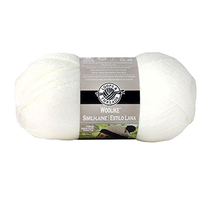 Loops & Threads Woolike Yarn - 3.5 oz. - One Ball - Ivory