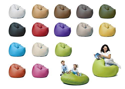 sunnypillow XL Sitzsack mit Styropor Füllung 100 cm Durchmesser 2-in-1 Funktionen zum Sitzen und Liegen Outdoor & Indoor für Kinder & Erwachsene viele Farben und Größen zur Auswahl Grün