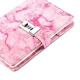 Marble Diary with Lock for Girls and Women,Secret Journal with Lock and Cute Notebooks for Teen Girls,Password Girls Diary with Combination Lock (Pink, A5)