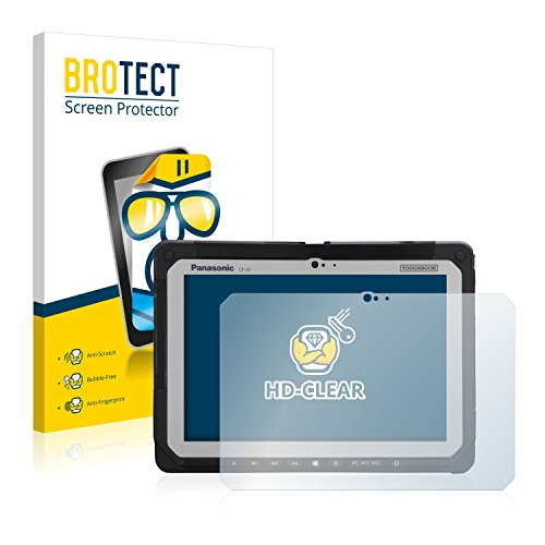 BROTECT Schutzfolie kompatibel mit Panasonic Toughbook CF-20 (2 Stück) klare Bildschirmschutz-Folie