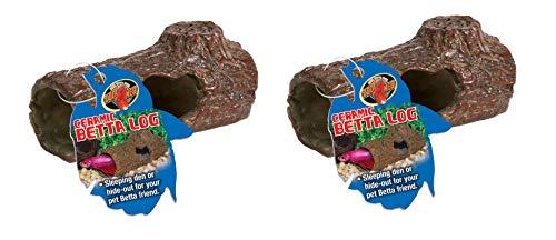 Zoo Med Laboratories AZMFA50 Sinking Ceramic Betta Log - 2 Pack