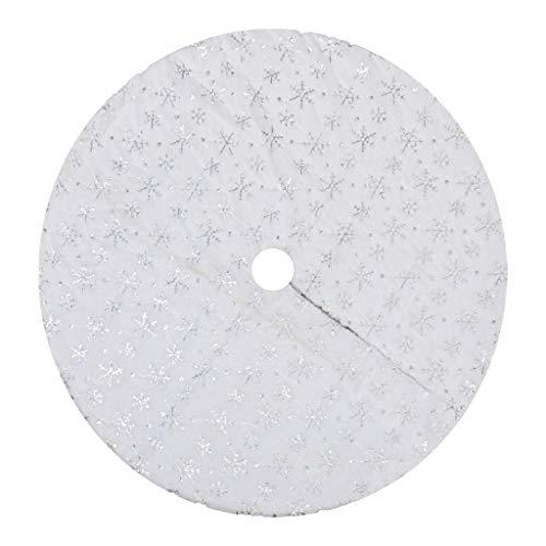 Christmas Ornament Ice Crystal Snowflake Tree Skirt Christmas Tree Apron Home & Garden Home Decor