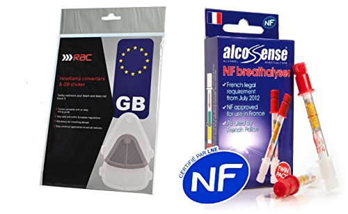 European French Travel Kit with Breathalysers Beam Deflectors