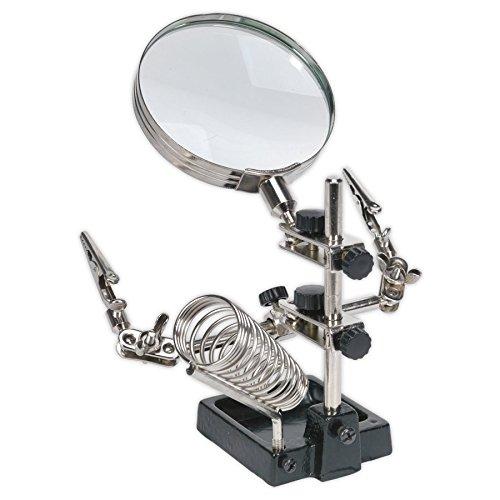 Sealey SD150H mini robot stand saldatura con lente d\' ingrandimento e supporto in ferro