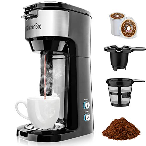 Single Serve Coffee Maker for Coffee Pod & Ground...