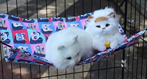 WYJW Comfortabele kat huisdier kitten hangmat kooi opknoping bed voor konijn Chinchilla kat Ferret (3D kat, M) voor kat/hond
