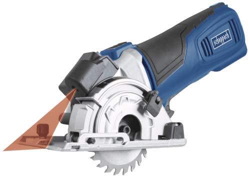 Scheppach Tauchsäge PL285 (Tauch-Kreissäge mit 600 Watt, Schnitttiefe 28,5mm, Sägeblatt- Ø 89mm, mit Laser, LED-Betriebsanzeige) inkl. umfangreiches Zubehörset