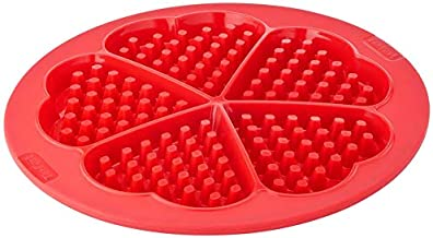 Tefal Profle x 5 Heart Shaped Waffles Mould, Silicon - J4095154