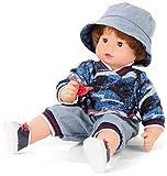 Götz 2027100 Maxy Muffin Fashionisto Puppe - 42 cm große Babypuppe mit braunen Schlafaugen, braune Haare und Weichkörper - Weichkörperpuppe in 8-teiligen Set