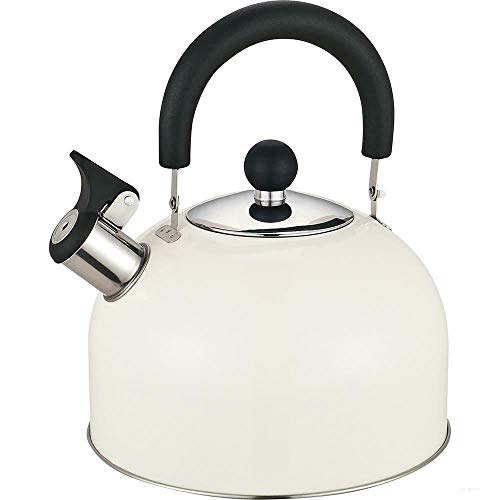 Prima 2.5L Stainless Steel Whistling Kettle in Cream 11124C by Prima Kitchen