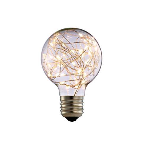 takestop® LED-lamp G95 33 LED 2200 K 2W E27 licht rond warm wit 10 x 13 cm kerstverlichting kerstverlichting