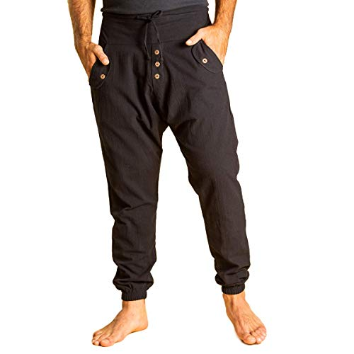 PANASIAM Yogipants, Cotton, Black, XL