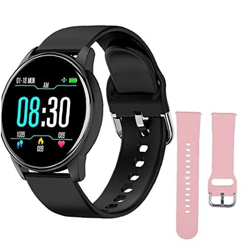 Tuimiyisou Pulsera Inteligente Inteligente Reloj de Silicona Deportes ZL01 con reemplazo de la Correa de Rosa rastreador de Ejercicios de Ritmo cardíaco Prueba podómetro Hombres Negro