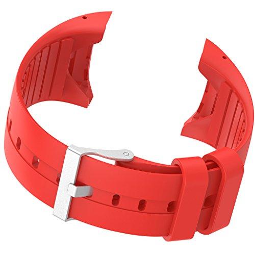 Uhrenarmband Ersatzteile aus Weiche Gummi für Polar M400 M430 Smart Watch - Farben Auswählen - rot