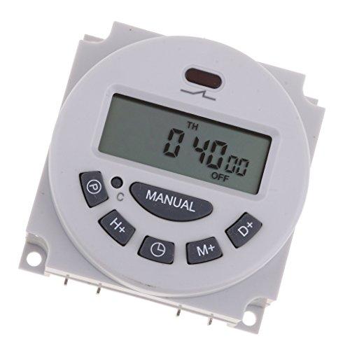 harayaa 12V Digital LCD Power Temporizador Programable Interruptor de Tiempo Temporizadores Semanales