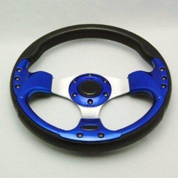 Universel de volant Momo Racing PU 33 cm modifiée Roue de volant 510 Bleu et Noir