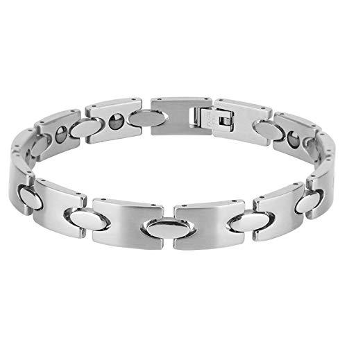 ZJchao Titanium Magnetic Bracelet, Male Fashionable Bracelet, Simple Delicate Men Male Healing Jewelry Titanium Steel Antifatigue Bracelet Bangle Gift Health Bracelet Pain Reduce Fatigue