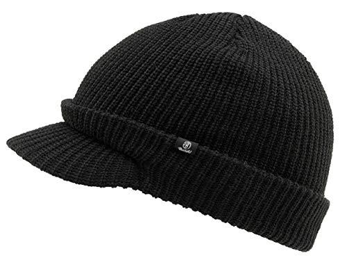 Brandit Shield Cap, Strickmütze mit Schirm, Schwarz