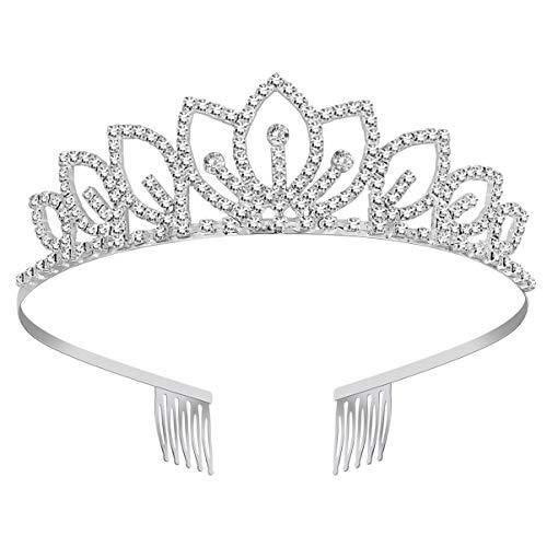 SUPVOX Coronas de Tiara de Cristal Rhinestone Reina Princesa Diadema Pelo Joyería...