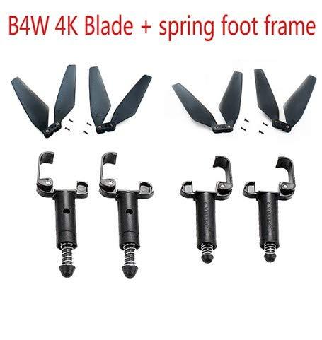 FairOnly Blade Spring Foot For Bugs 4W B4W 4K Drone Plegable Control Remoto Avión Accesorio Tren de Aterrizaje Cuchilla + pie de Resorte Juguetes