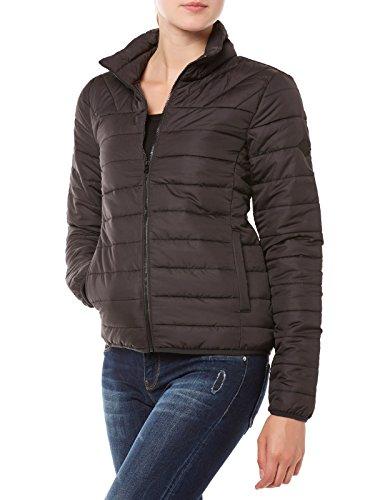 ONLY Damen Steppjacke Übergangsjacke Leichte Jacke (S, Black)