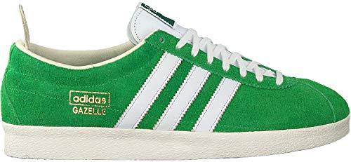 adidas Originals Gazelle - Zapatillas para hombre, diseño vintage, color verde