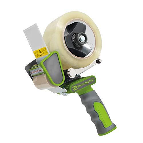 ENVO TAPE® 903030D Handabroller silent 50 mm - leises abrollen, Profi Abroller für Klebeband Paketband, 1 x Paketbandabroller