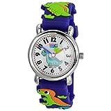 Tee-Wee Uhr für Kinder Dinosaurier Kautschuk Armband blau Analoguhr UW331B EIN Angebot von ELFE