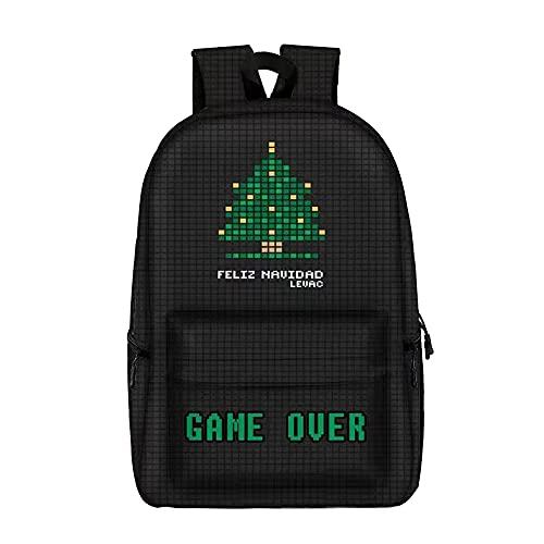Tetris - Mochila para consola de juegos, para colegio, para niños y niñas, bolsa de hombro, impermeable, mochila de viaje, grande, 16 pulgadas, portátil, anime para fans de regalos.