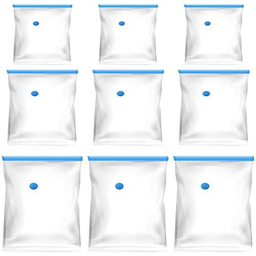 DMFUふとん圧縮袋 9枚組XL×3枚 &L×3枚&S×3枚超実用性な組み布団圧縮袋 カビ、ダニ対策圧縮パック 防塵防湿衣類圧縮袋 敷布団収納 掃除機対応 収納 引越し 衣替え 省スペース真空パック旅行 出張