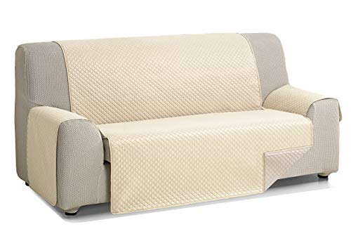Martina Home Diamond Cubre Sofa Acolchado Reversible, Beige/Lino, 3 Plazas