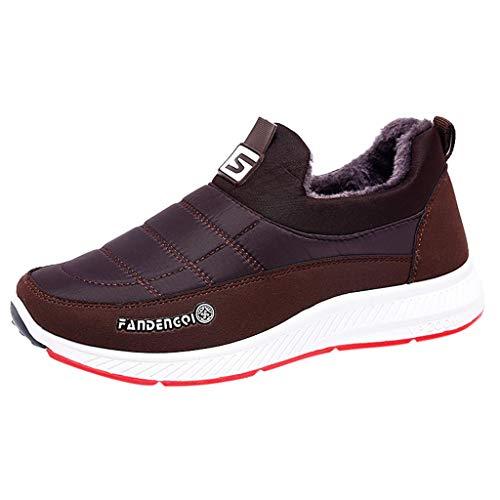Fenverk Winterschuhe Herren Damen Warm GefüTtert Boots Schneestiefel Winterstiefel Winter Sneaker/Warme GefüTterte Wasserdicht Trekkingschuhe Wanderschuhe Gr.36-44