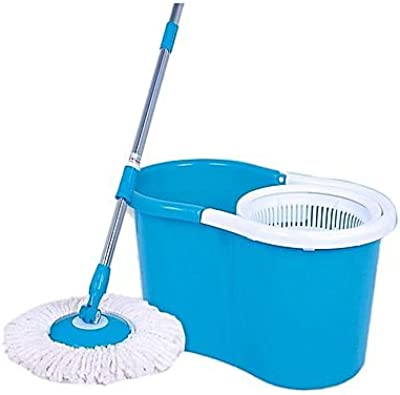 Floor Cleaning PVC Spin Mop with 2 Microfibers & Get a Pair of Microfiber Gloves Absolutely Free