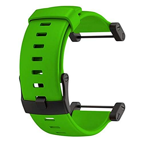 Suunto Core Green Rubber Strap Correa para Relojes, Unisex, Verde, Talla Única