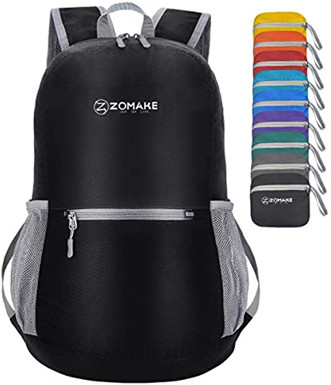 ZOMAKE Ultra Lightweight Packable Backpack Water Resistant Hiking Daypack,Small Backpack Handy Foldable Camping Outdoor