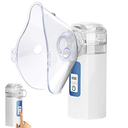 Handheld Nebulizer Steam Inhalers, MAYLUCK Mini Nebulizer Portable Nebulizer for Kids, Steam Inhaler Vaporizer Two Working Modes for Better...