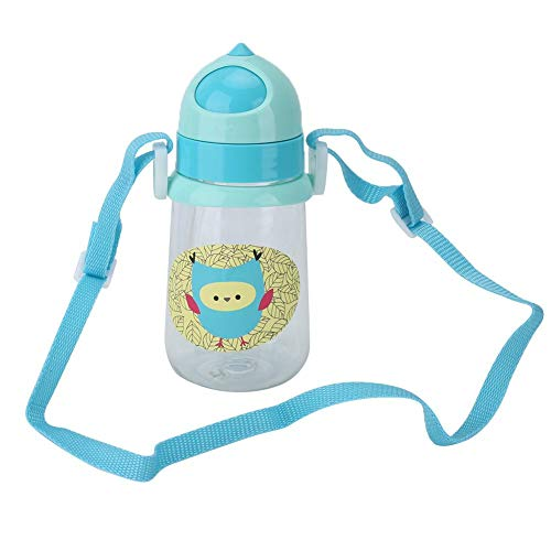 YOUTHINK Kid Straw Cup with Kettle Strap,350ml Cartoons Toddlers Feeding Drinking Cup Sippy Cups for Toddlers (Green)