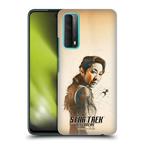 Head Case Designs sous Licence Officielle Star Trek Discovery Philippa Georgiou Grunge Personnages Coque Dure pour l'arrière Compatible avec Huawei P Smart (2021)