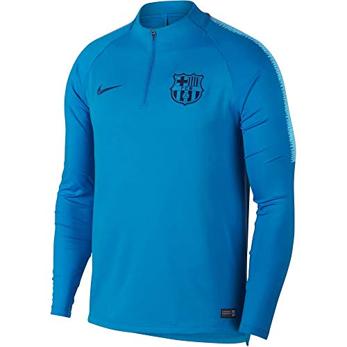 Nike Herren FCB M NK Dry SQD DRIL Long Sleeved T-Shirt, Equator Blue, 2XL