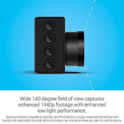 Garmin Dash Cam 56, Wide 140-Degree Field of View In 1440P HD, 2