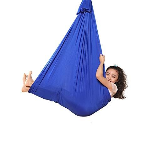 MHCYKJ Hamaca Terapia de Interior Exteriores para Niños Adolescentes con más Necesidades Especiales Abrazo Hamaca para niños (Color : Royal Blue, Size : 100x280CM/39×110in)
