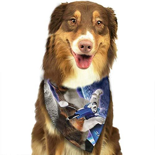 FunnyStar Hond Bandana Katten Reizen met Lasagne Op Scooter Space Sjaals Accessoires Decoratie voor Huisdier Katten en Puppies