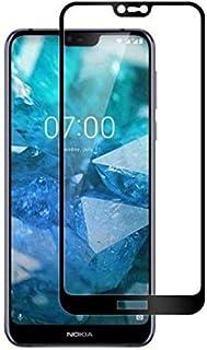 لنوكيا 7.1 5D غطاء منحني كامل واقي شاشة من الزجاج المقسى لنوكيا 7.1 مع إطار أسود