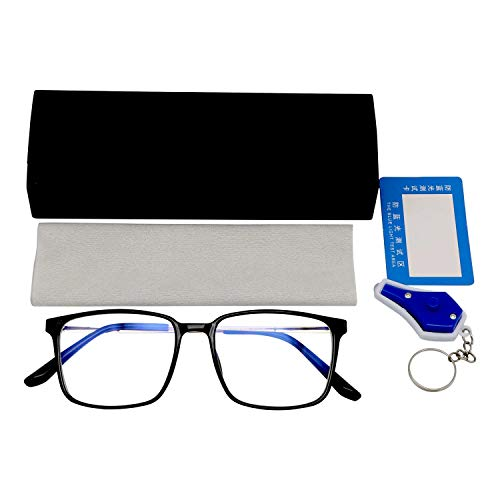 Blue Light Blocking Glasses – CE Certified - Computer Glasses – Anti Glare Glasses - Gaming Glasses – Unisex Blue Light Glasses - Screen Glasses - Eye Strain - Case, Cloth & Testing Kit Included