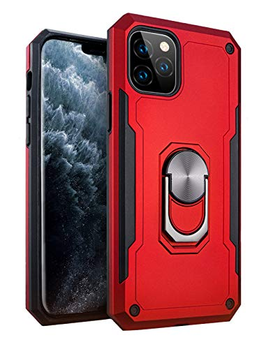 iPhone 11 Pro Max Military Style Armor Case with Rotating Ring Holder, Kickstand and Metal Stand for Magnetic Car Mount