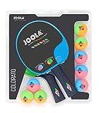 JOOLA - Juego de 2 raquetas de ping, color rosa y bolas