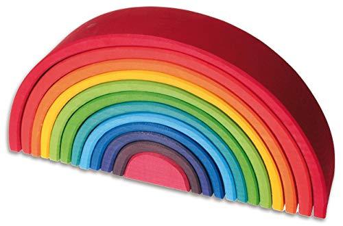 Juguete de arcoíris apilable grande de Grimm's